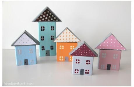 בתים קטנים מקוביות משחק